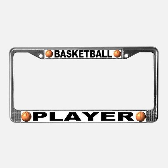 Basketball Player Chrome Steel License Plate Frame