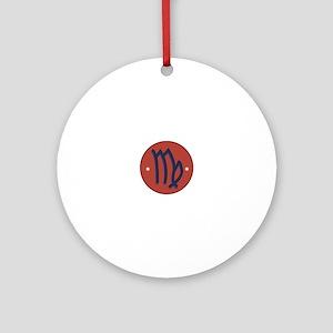 Virgo Sign Ornament (Round)