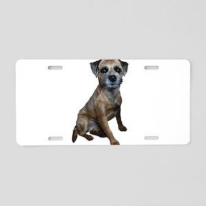 Border Terrier Girl Aluminum License Plate