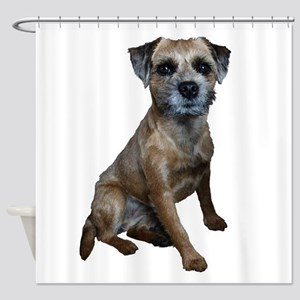 Border Terrier Girl Shower Curtain