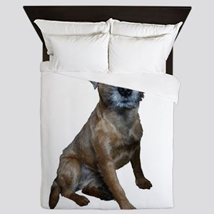 Border Terrier Girl Queen Duvet