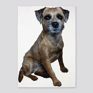 Border Terrier Girl 5'x7'Area Rug