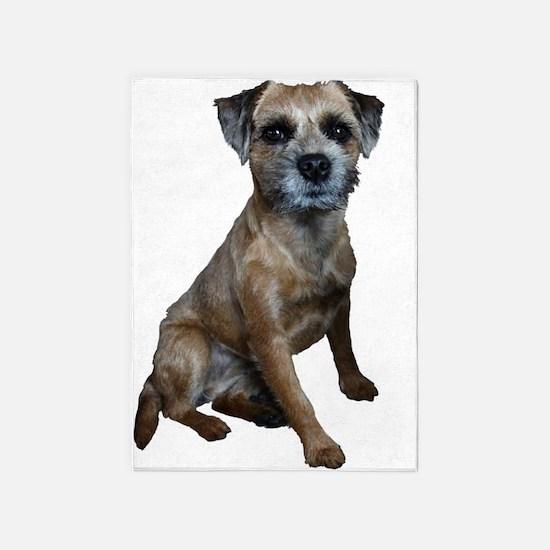 Border Terrier Girl 5'x7'Area Rug
