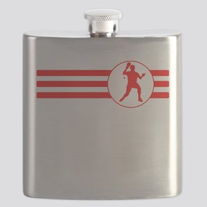 Table Tennis Stripes (Red) Flask