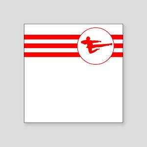 Jump Kick Stripes (Red) Sticker