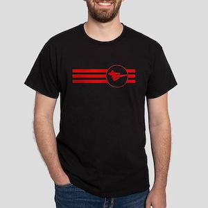 Jump Kick Stripes (Red) T-Shirt