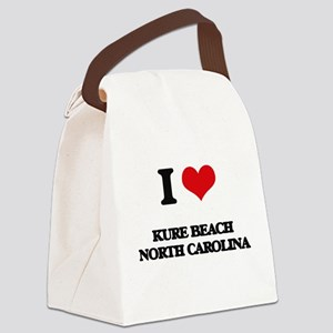 I love Kure Beach North Carolina Canvas Lunch Bag