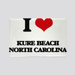 I love Kure Beach North Carolina Magnets