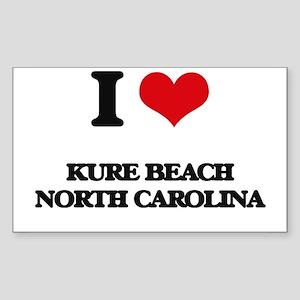 I love Kure Beach North Carolina Sticker