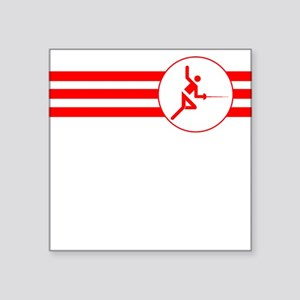 Fencer Stripes (Red) Sticker