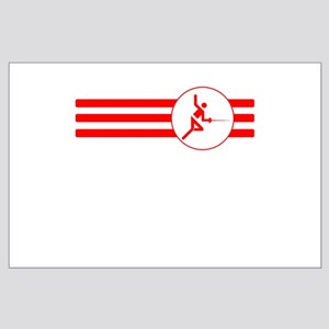 Fencer Stripes (Red) Posters