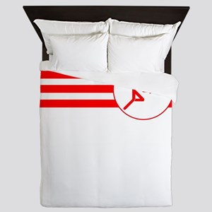 Fencer Stripes (Red) Queen Duvet