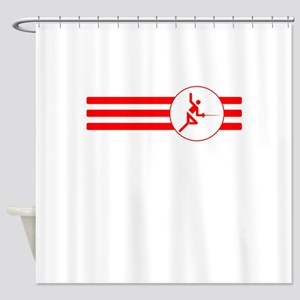 Fencer Stripes (Red) Shower Curtain