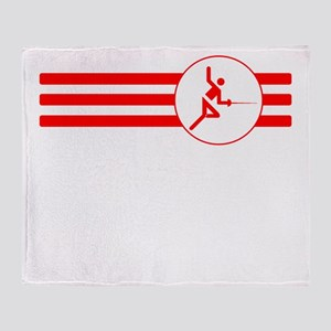 Fencer Stripes (Red) Throw Blanket