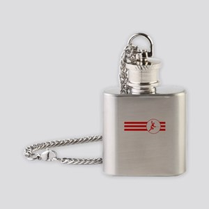 Fencer Stripes (Red) Flask Necklace