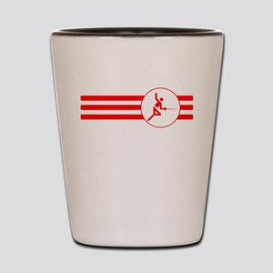 Fencer Stripes (Red) Shot Glass