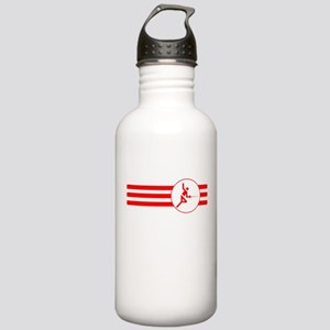 Fencer Stripes (Red) Water Bottle