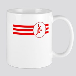 Fencer Stripes (Red) Mugs
