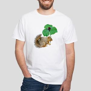 Squirrel Trillium White T-Shirt