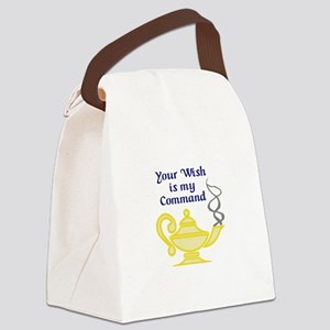WISH IS MY COMMAND Canvas Lunch Bag