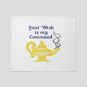 WISH IS MY COMMAND Throw Blanket