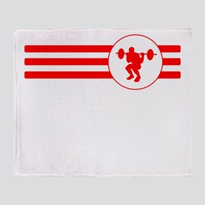 Squats Stripes (Red) Throw Blanket