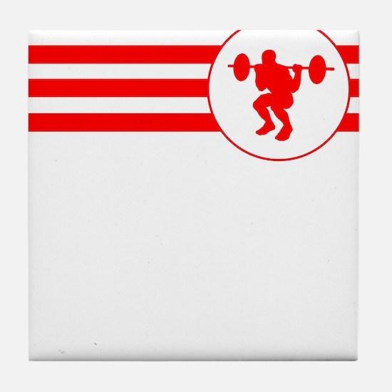 Squats Stripes (Red) Tile Coaster