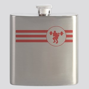 Squats Stripes (Red) Flask