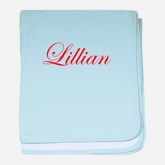 Lillian-Edw red 170 baby blanket