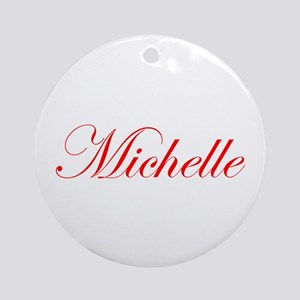 Michelle-Edw red 170 Ornament (Round)