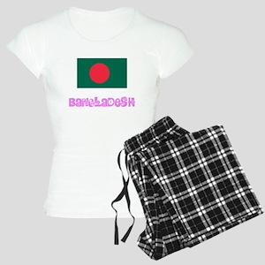 Bangladesh Flag Pink Flower Design Pajamas