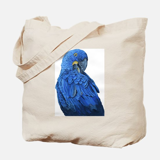 Hyacinth Macaw portrait Tote Bag