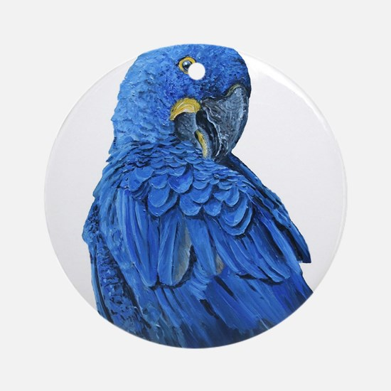 Hyacinth Macaw portrait Ornament (Round)