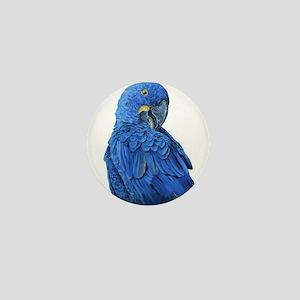 Hyacinth Macaw portrait Mini Button