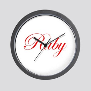 Ruby-Edw red 170 Wall Clock