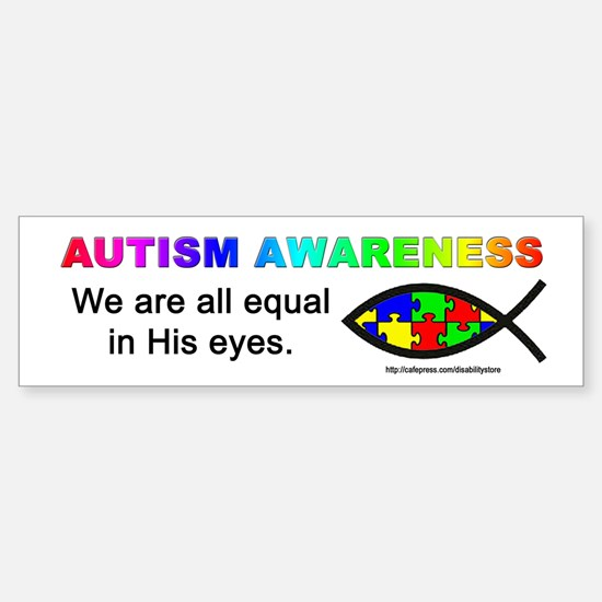 We Are Equal Bumper Car Car Sticker