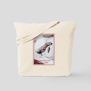 Vintage Puppy Art Tote Bag