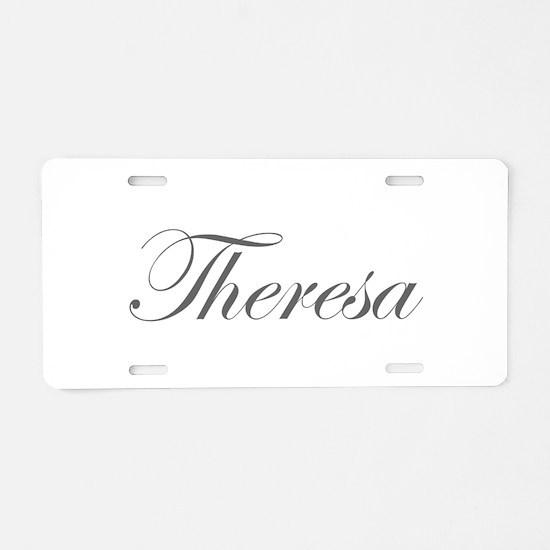 Theresa-Edw gray 170 Aluminum License Plate