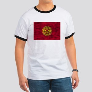 Distressed Kyrgyzstan Flag T-Shirt