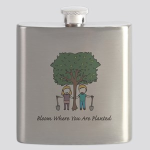Bloom Where Planted Flask