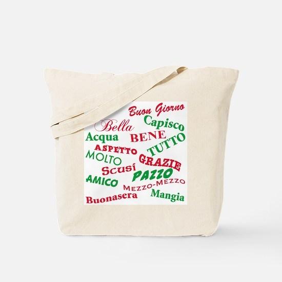 Italian Sayings Tote Bag