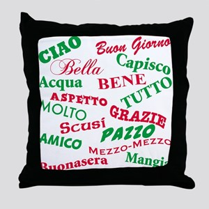 Italian Sayings Throw Pillow