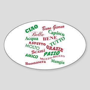 Italian Sayings Oval Sticker