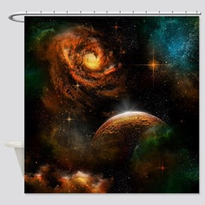 Awesome universe Shower Curtain