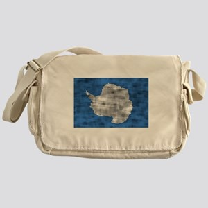 Distressed Antarctica Flag Messenger Bag