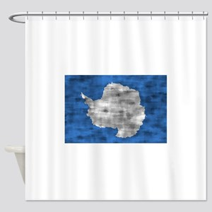 Distressed Antarctica Flag Shower Curtain
