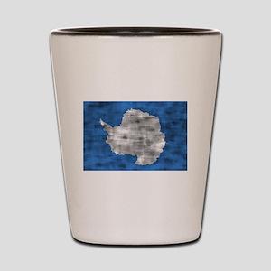 Distressed Antarctica Flag Shot Glass
