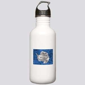 Distressed Antarctica Flag Water Bottle