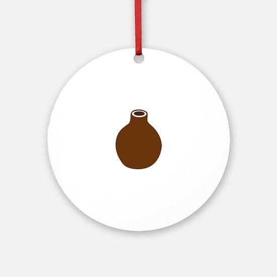 Brown Vase Ornament (Round)