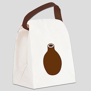 Brown Vase Canvas Lunch Bag